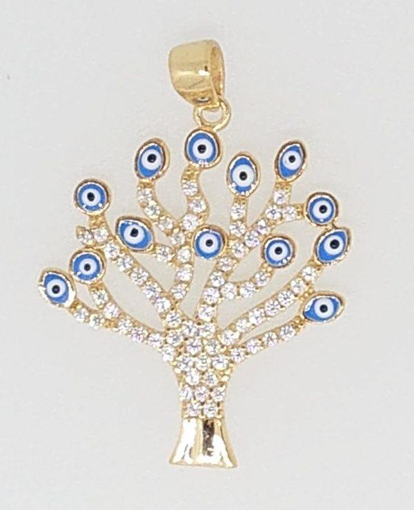 anhaenger-lebensbaum-gelbgold-375-mit-zirkonias-und-nazar-evil-eyes
