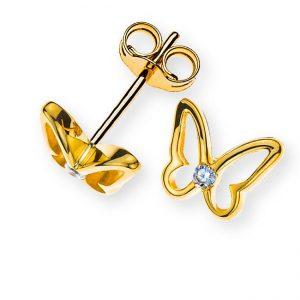 ohrstecker-schmetterling-gelbgold-375-mit-2-weissen-zirkonias