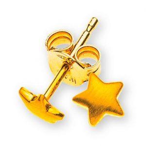 ohrstecker-sterne-gelbgold-375-seidenmatt
