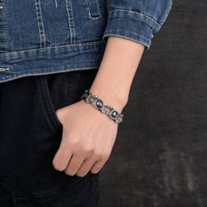 Armband Edelstahl Totenkopf-3