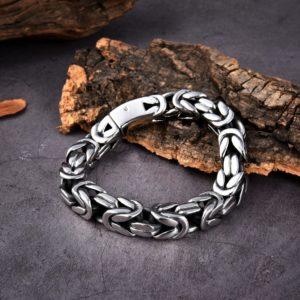Armband Königskette Klassisch Edelstahl -3
