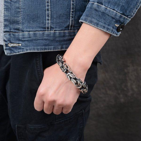 Armband Königskette Klassisch Edelstahl -4