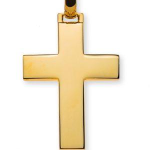 Balken-Kreuz Gelbgold 750