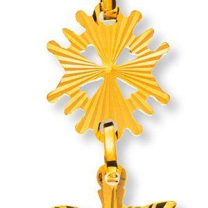 Hugenotten-Kreuz Gelbgold 750 diamantiert