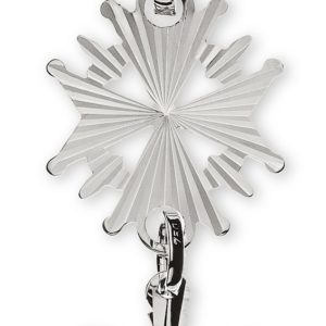 Hugenotten-Kreuz Weissgold 750 diamantiert