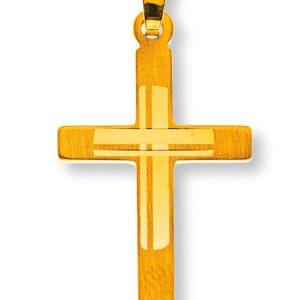 Kreuz Gelbgold 750 mit Muster