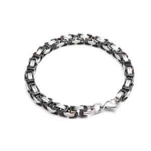 armband-koenigskette-edelstahl-bi-color-silber-schwarz