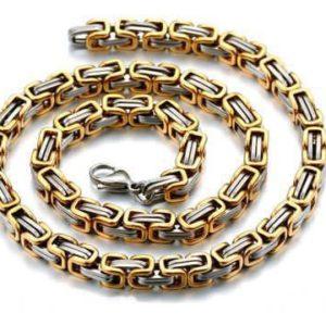 collier-koenigskette-edelstahl-bi-color-silber-vergoldet