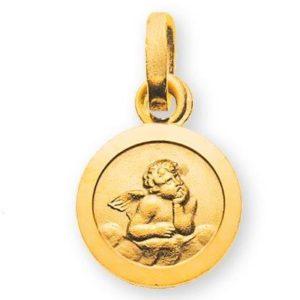 medaille-engel-gelbgold